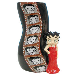 Betty Boop Film Strip Ceramic Vase