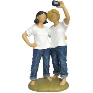Westland Giftware Forever in Blue Jeans Picture Takers Figurine
