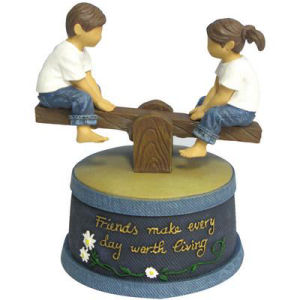 Westland Giftware Forever in Blue Jeans See Saw Animated Figurine