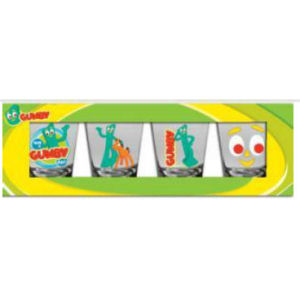 Gumby Shot Glasses Set of 4
