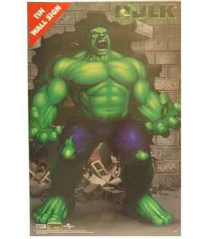 Incredible Hulk Rage Tin Wall Sign