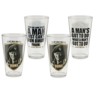 John Wayne The Duke 4 Piece 16 Ounce Glass Set