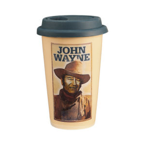 John Wayne 12 Ounce Double Wall Ceramic Travel Mug