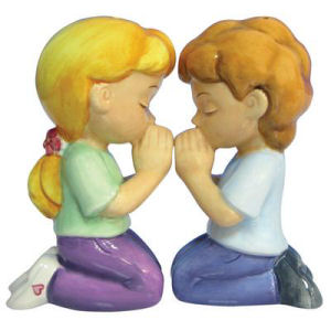Westland Giftware Mwah! Praying Salt and Pepper Shakers