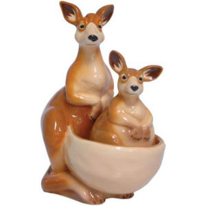 Westland Giftware Mwah! Kangaroos Salt and Pepper Shakers