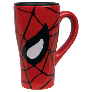Spider-Man Eyes 18 Ounce Ceramic Travel Mug.