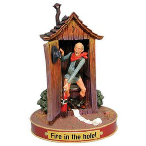 Y-Me Ranch Hands Fire in the Hole Figurine