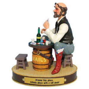 Y-Me Ranch Hands Gambler Figurine
