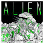 Alien The Coloring Paperback Book. The 80 page book measures about 9.8 inches tall  by 9.8 inches wide.
