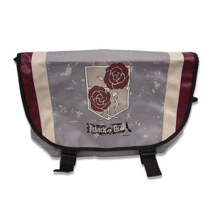 Attack on Titan Garrison Regiment Gray Messenger Bag