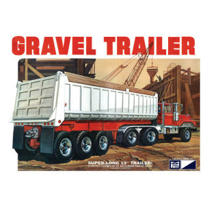 3 Axle Gravel Trailer Model Kit
