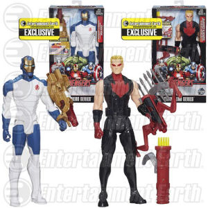 Avengers Titan Heroes Iron Man and Hawkeye Deluxe Electronic Action Figure Case - Entertainment Earth Exclusive