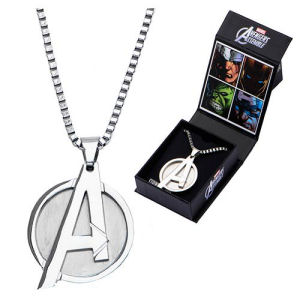 Avengers A Logo Pendant with Chain Necklace