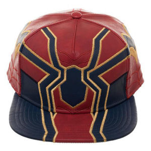 Avengers Infinity War Iron Spider PU Suit Up Snapback Hat