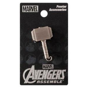 Thor Mjolnir Hammer Pewter Lapel Pin