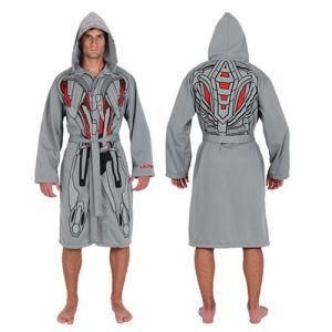 Marvel Ultron Grey Jersey Bathrobe