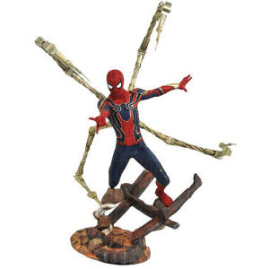Marvel Premier Collection Avengers Infinity War Iron Spider-Man Statue.  This is a limited edtion of 3000 pieces sculpted by Cortes Studios. Hand Numbered.