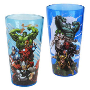 Marvel Avengers Heroes and Villains 16 Ounce Pint Glass Set of 2
