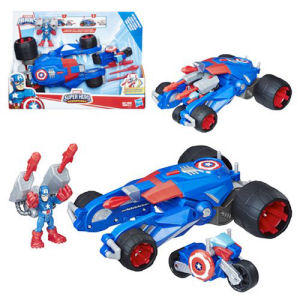 Marvel Super Hero Adventures Captain America Victory Launcher Vehicle