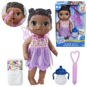 Baby Alive Face Paint Fairy African American Doll