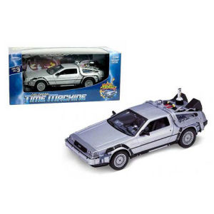 Back to the Future 2 DeLorean 1981 Time Machine Die-Cast Metal 1/24th Scale Vehicle