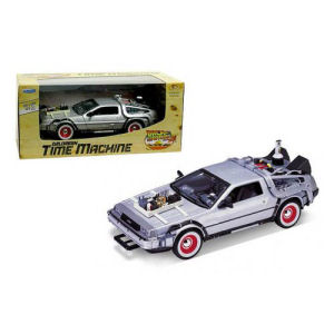 Back to the Future 3 DeLorean 1981 Time Machine Die-Cast Metal 1/24th Scale Vehicle