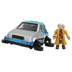 Back to the Future Part II Hovering DeLorean Time Machine Minimates Vehicle