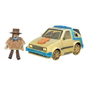 Back to the Future Part III Minimates Rail Ready Time Machine and Marty Set