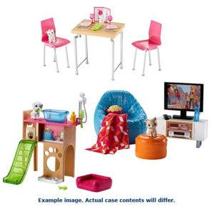 Barbie Pet and Furniture Set Case