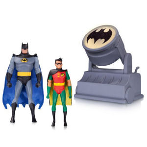 Batman The Animated Series Batman and Robin Figures with Bat-Signal