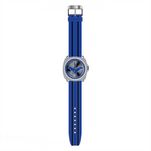 Nightwing New 52 Logo Blue with Black Stripes Rubber Strap ...