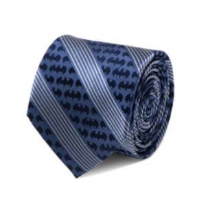 Batman Pinstripe Navy Italian Silk Tie
