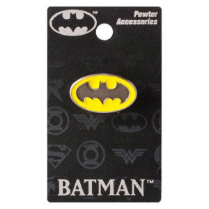Batman Colored Logo Pewter Lapel Pin