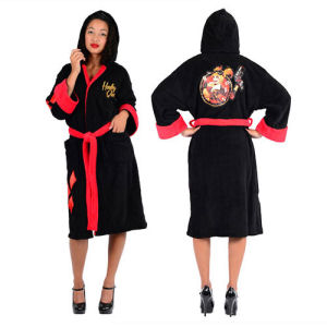DC Comics Bombshells Harley Quinn Fleece Bathrobe