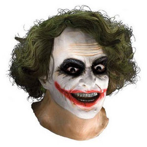 Batman The Dark Knight The Joker Full Latex Mask with Hair
