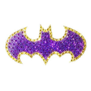 Batman Batgirl Logo Crystal Studded Small Decal