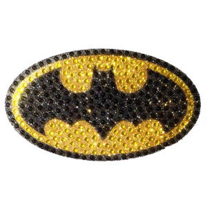 Batman Logo Crystal Studded Medium Decal