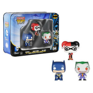 Batman DC Comics Pocket Pop! Mini Vinyl Figure 3 Pack Tin