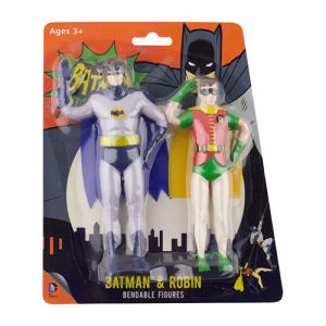 Batman Classic TV Series Batman and Robin 5.5 Inch Bendable Figure 2-Pack
