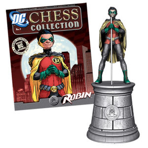 DC Superhero Robin Bishop Chess Piece with Magazine