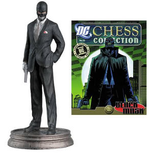 DC Superhero Black Mask Black Pawn Chess Piece with Magazine