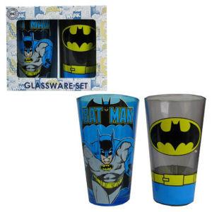 Batman 16 Ounce Pint Glass 2 Pack