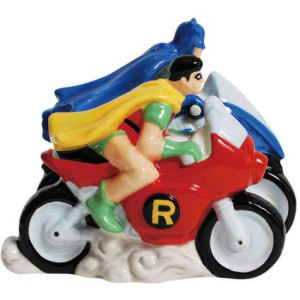 Westland Giftware DC Comics Batman and Robin Magnetic Salt and Pepper Shakers