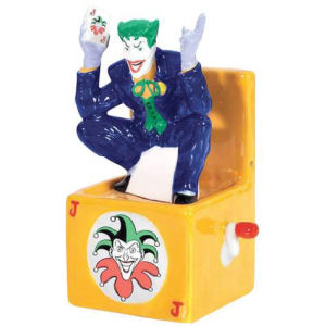 Westland Giftware DC Comics Joker in a Box Magnetic Salt and Pepper Shakers