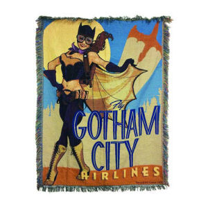 DC Comics Bombshells Batgirl Woven Tapestry Blanket - Previews Exclusive