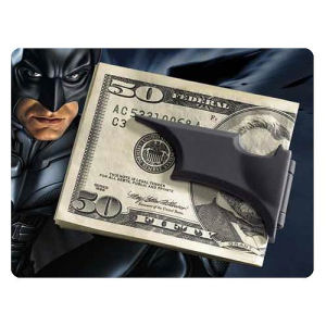 Batman The Dark Knight Rises Folding Batarang Satin Black Money Clip