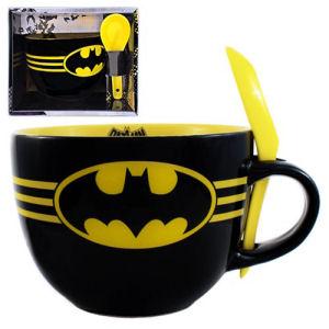 Batman Bats Soup Mug with Spoon