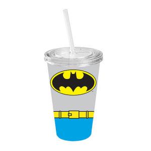Batman Uniform Blue Plastic Travel Cup