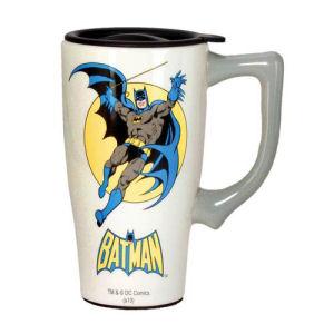 Batman White Travel Mug with Handle