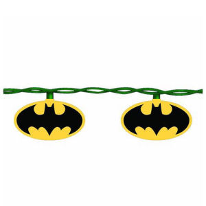 Batman Bat Signal 10 Light Christmas Tree Lights Set